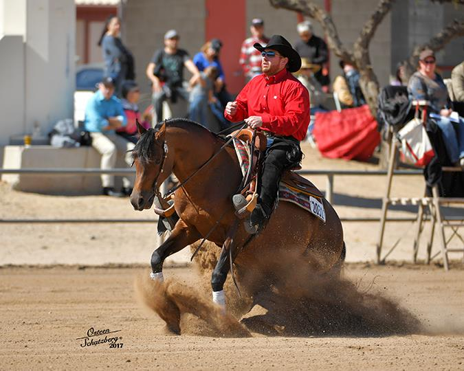 PA Marco and Nathan Kent sliding stop and Scottsdale Arabian Horse Show